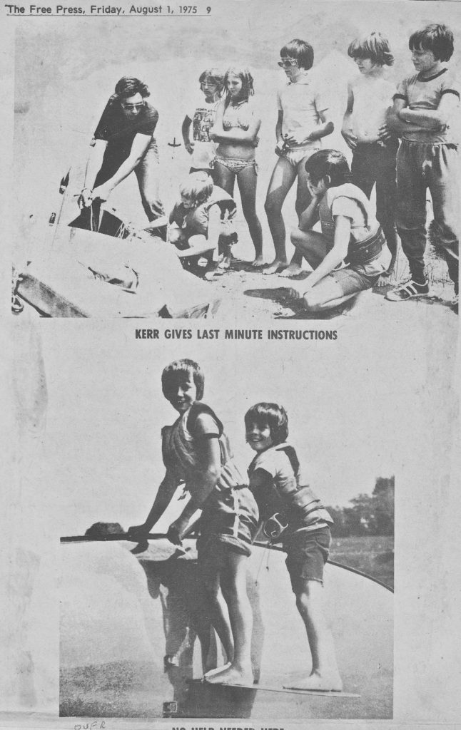 newspaper clipping 1976 kids and instructor